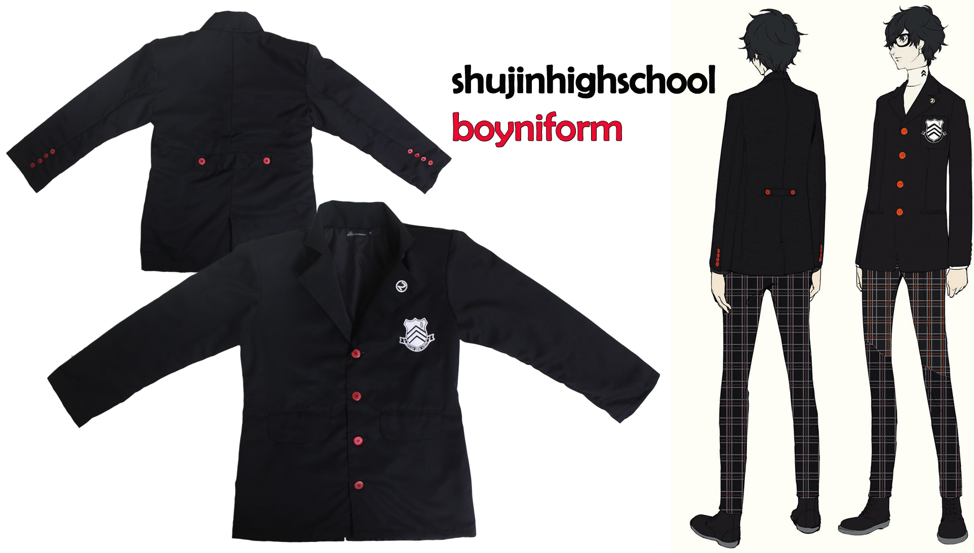 Shujin High School Boy Uniform